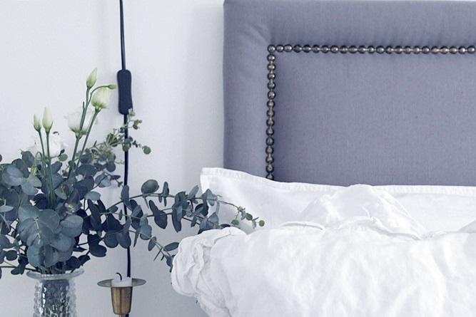 Sänggavlar Förvaring : Diy en sÄnggavel med nitar