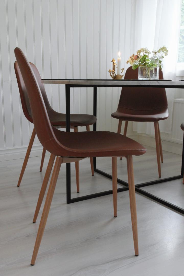 sköna stolar till matbord